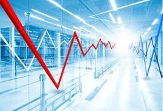 股市图表和长条图 库存图片