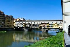 蓬特Vecchio在佛罗伦萨,托斯卡纳,意大利 免版税库存照片