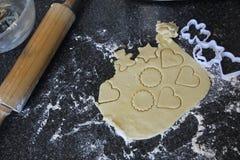 自创脆饼面团 免版税库存照片