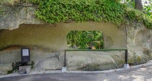 自然岩石曲拱在松岛,日本 免版税库存照片