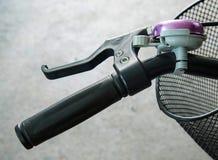自行车橡胶把柄 免版税库存照片