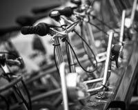 自行车行,巴塞罗那 免版税库存照片