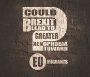 英国和欧盟关系 库存照片