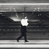 苹果计算机商店在米兰,意大利 图库摄影