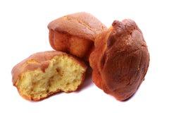 蛋糕和面包快餐 免版税库存图片
