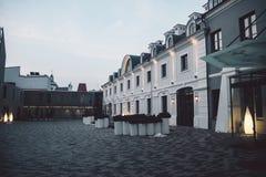 老古典大厦在维尔纽斯老镇 免版税库存图片