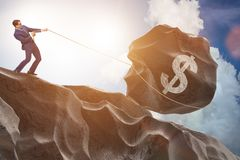 贸易商贸易以美国美元 免版税库存图片