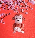 2016 è anno della scimmia Immagine Stock Libera da Diritti