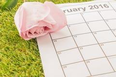 è aumentato sul calendario Immagini Stock