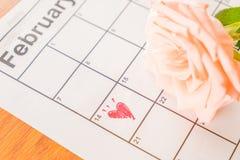 è aumentato sul calendario Fotografia Stock