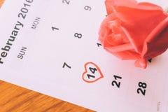 è aumentato sul calendario Fotografie Stock Libere da Diritti