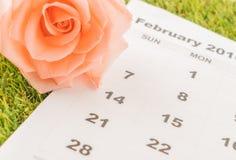 è aumentato sul calendario Fotografie Stock