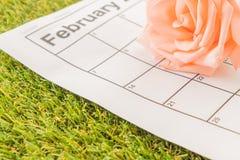 è aumentato sul calendario Immagine Stock