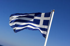 È bandierina della Grecia Fotografia Stock Libera da Diritti