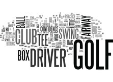 È il vostro concetto di A Little Dusty Text Background Word Cloud del driver del golf Immagini Stock