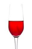 È isolato del vetro di vino ancora su fondo bianco Fotografie Stock
