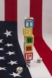 È l'America che gioca su Trump? Immagine Stock Libera da Diritti