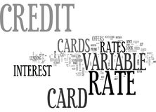 È la nuvola variabile di Rate Credit Cards Better Word Fotografia Stock Libera da Diritti