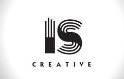 È la progettazione di Logo Letter With Black Lines Linea vettore Illus della lettera Royalty Illustrazione gratis