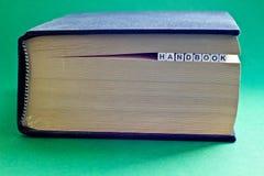 È libro con il manuale di parola Fotografia Stock Libera da Diritti