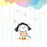 È oggi pioggia Immagini Stock Libere da Diritti