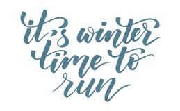 È orario invernale eseguire la calligrafia della spazzola illustrazione di stock