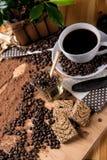 È pausa caffè, concetto naturale con alimento biologico Immagini Stock Libere da Diritti