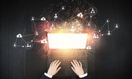 È rete e e-business Immagini Stock