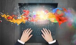 È rete e e-business Fotografia Stock Libera da Diritti