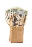 È soldi nel sacchetto Immagine Stock Libera da Diritti