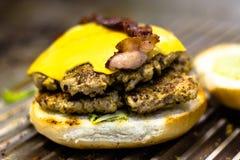 È tempo dell'hamburger Fotografie Stock Libere da Diritti