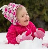 È un giorno di divertimento ma di freddo all'esterno Fotografia Stock