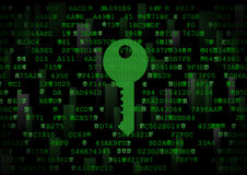 È un simbolo di una chiave digitale Immagine Stock Libera da Diritti