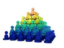È una struttura della piramide, rango di potere Rappresenta la struttura dell'organizzazione illustrazione di stock