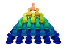È una struttura della piramide, rango di potere Rappresenta la struttura dell'organizzazione illustrazione vettoriale