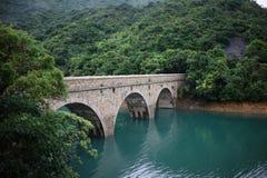 Un ponte nel bacino idrico del tam del tai, Hong Kong Fotografia Stock Libera da Diritti