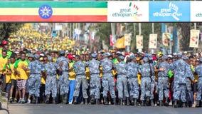 13ème édition de la grande course éthiopienne Images libres de droits