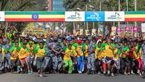 13ème édition de la grande course éthiopienne Photos stock