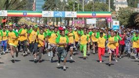 13ème édition de la grande course éthiopienne Image libre de droits