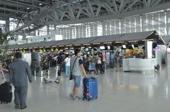 4ème étage de vue intérieure d'aéroport de Suvarnabhumi Image libre de droits