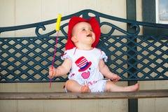 4ème adorable du bébé de juillet Photographie stock
