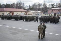 3ème anniversaire de création de garde nationale de l'Ukraine Photos stock