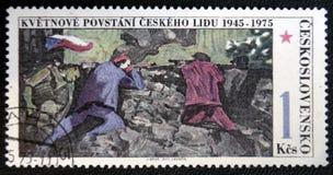 30ème anniversaire de l'augmentation tchèque, vers 1975 Photos stock