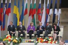 20ème anniversaire de l'effondrement du communisme en Europe centrale Photo stock