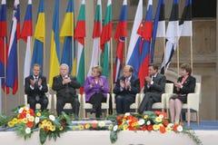 20ème anniversaire de l'effondrement du communisme en Europe centrale Images libres de droits