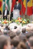20ème anniversaire de l'effondrement du communisme en Europe centrale Images stock
