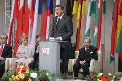 20ème anniversaire de l'effondrement du communisme en Europe centrale Image libre de droits