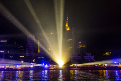 25ème anniversaire de l'unité allemande à Francfort Photo libre de droits