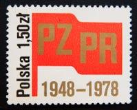 30ème anniversaire de la partie de travailleurs unis par polonais Vers 1978 Photo libre de droits