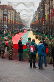 25ème anniversaire de sa restauration de l'indépendance en Lithuanie Image libre de droits